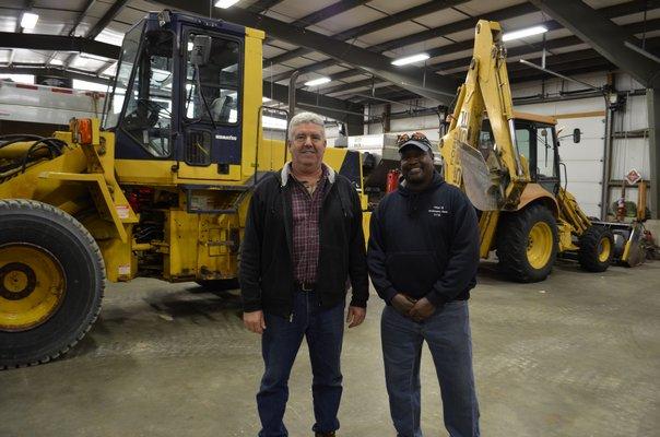 Westhampton Beach DPW Superintendent John Kearns and Labor Crew Leader Greg Liggon are both retiring in mid-January. ANISAH ABDULLAH