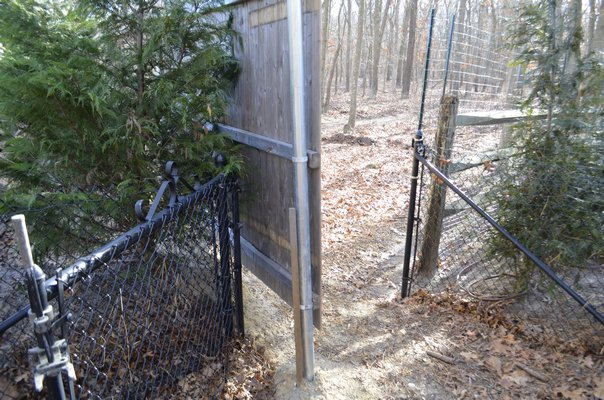 A stockade fence was installed along the southern property line at 91 North Phillips Avenue that impaired the use of the existing fence at 36 Drew Drive, Eastport. ANISAH ABDULLAH