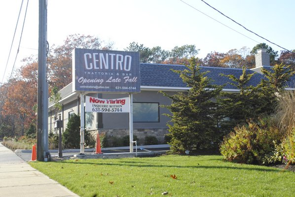 Centro Trattoria & Bar will open in Hampton Bays on December 8. AMANDA BERNOCCO
