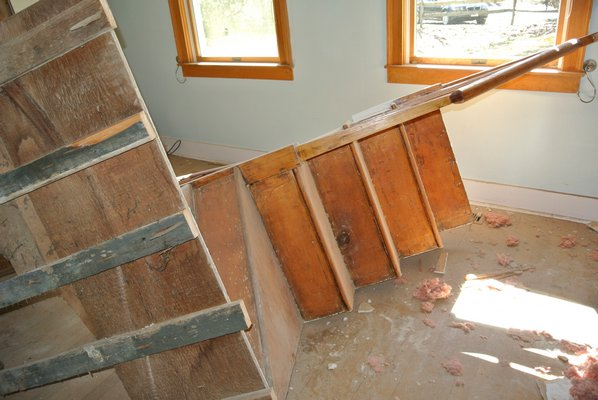 One of the staircases in the home is being saved.