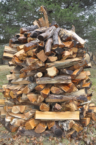 Brian Bailey explains how he uses the holz hausen wood-stacking method.