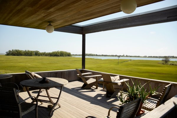 The rear decking has views of the Accabonac salt marsh and nature preserve. JD ALLEN
