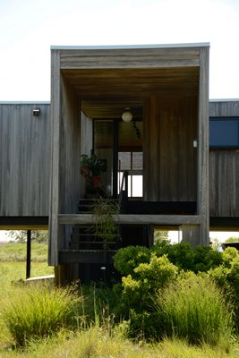 The two bedroom, two baths was built in 1974 by Marcel Breur architect Hamilton P. Smith. JD ALLEN