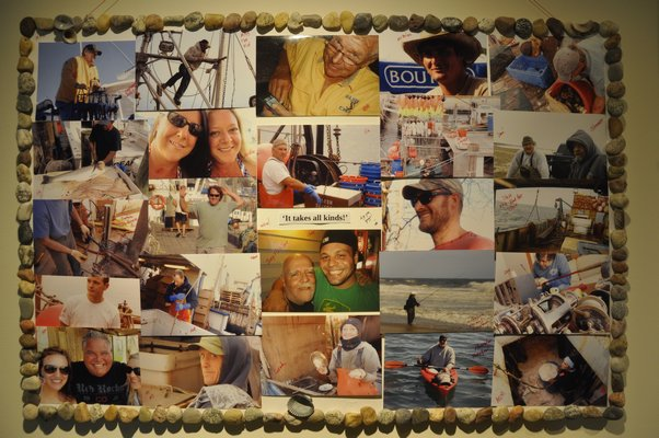 """Wendi Blair created the exhibit, """"A Tribute to All Fishermen,"""" by compiling a selection of photos taken on the Montauk docks since 2006. MICHELLE TRAURING"""