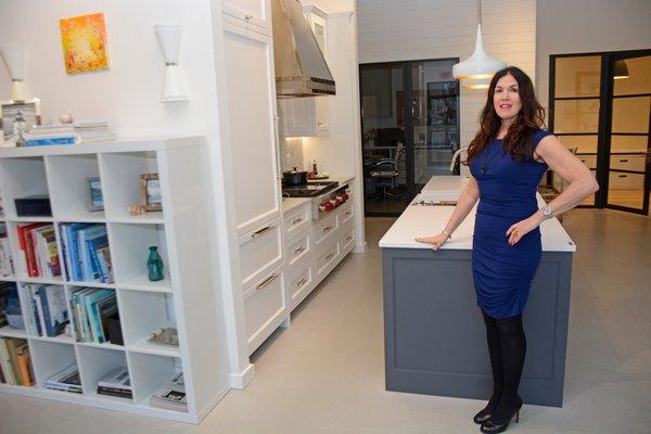 Danise Talbot, an interior designer with a showroom in Bridgehampton. JD ALLEN