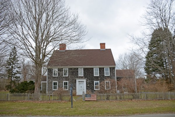 The 1775 Deacon David Hedges House on Hedges Lane in Sagaponack would be preserved and