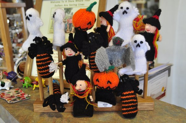 These finger puppets from World Village Fair Trade Market in Hampton Bays are knitted in Peru. MICHELLE TRAURING