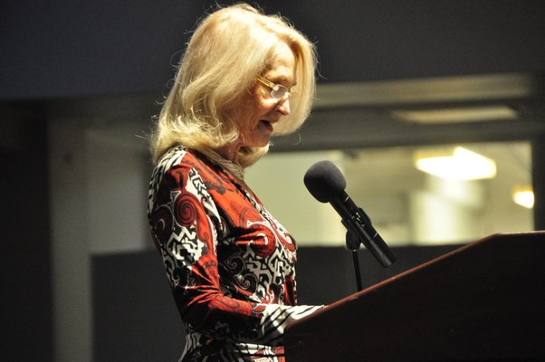 Ruth Appelhof, executive director of Guild Hall, opened the ceremony. MICHELLE TRAURING