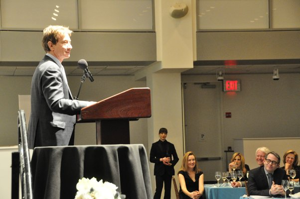Martin Short introduces Matthew Broderick, winner of the Lifetime Achievement Award in Performing Arts. MICHELLE TRAURING