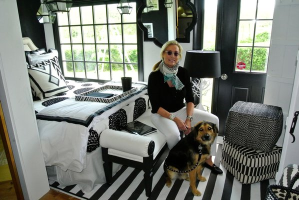 Iris Zonlight with Jai in the room she designed for the Arf Designer Show House.  DANA SHAW