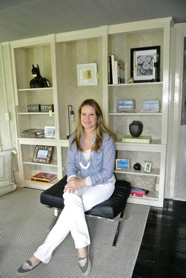 Tamara Fraser of Worth Interiors in the room she designed at the ARF Designer Show House.  DANA SHAW
