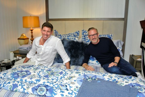 Michael S. Murray and Tim Croneberger in the Rachael Ray cottage at the ARF Designer Show House.  DANA SHAW