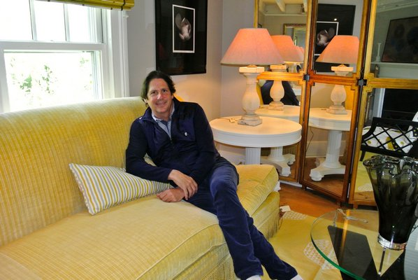 Jeff Lincoln in his room at the ARF Designer Show House. DANA SHAW