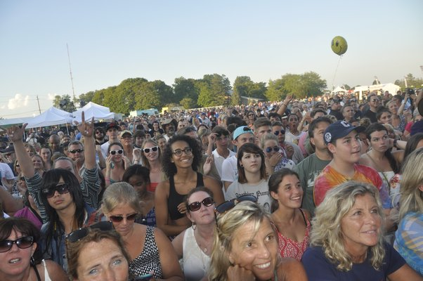 Thousands gathered for the FOLD Music Festival on Tuesday night at Martha Clara Vineyards in Riverhead. MICHELLE TRAURING