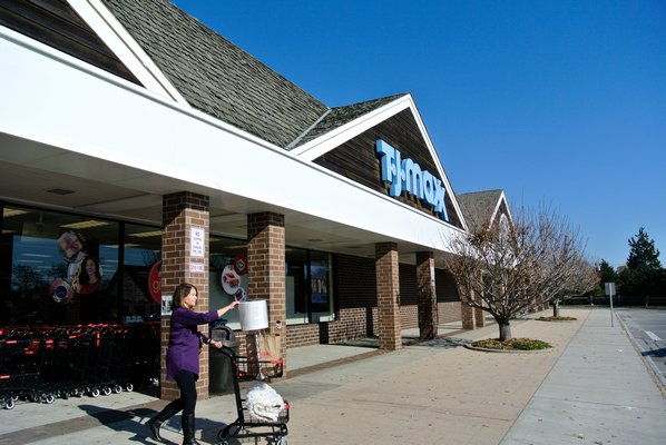 The TJ Maxx store in the Bridgehampton Commons in Bridgehampton is hoping to expand and include a Marshall's.   DANA SHAW