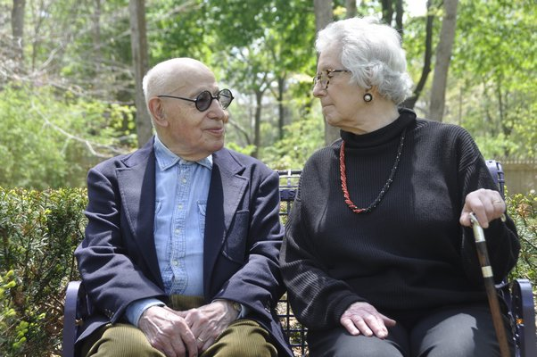 Judith and Gerson Leiber have been married 67 years. MICHELLE TRAURING