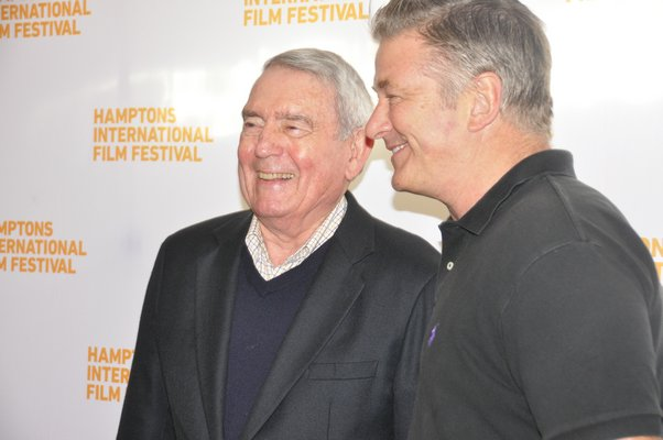 "Dan Rather participated in the ""Conversations With ..."" series with interviewer Alec Baldwin on Saturday at Bay Street Theater in Sag Harbor. MICHELLE TRAURING"