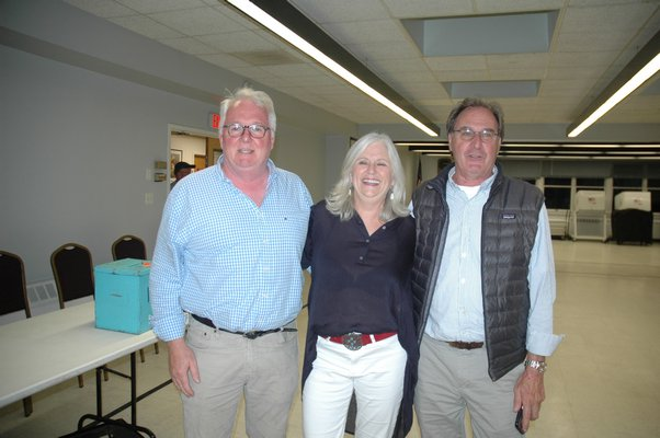 Aidan Corish, Kathleen Mulcahy and Bob Plumb on election night.  ELIZABETH VESPE