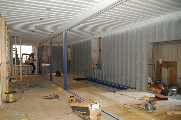 """A shipping container about to be """"upcycled"""" in Jacksonville, Florida. COURTESY CHRISTIE ANDERSON"""