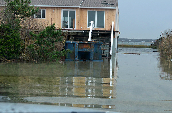 Flooding in Westhampton after Hurricane Sandy.