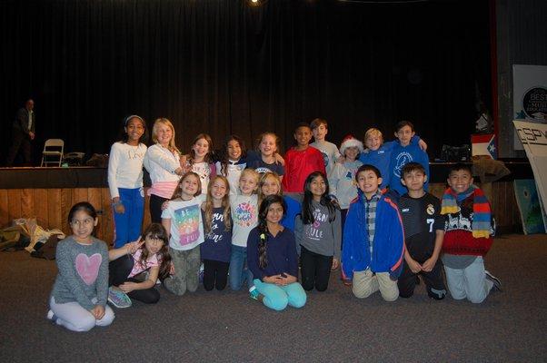 The ensemble cast of the Springs School Opera. JON WINKLER