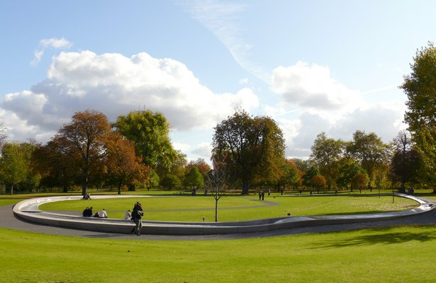 The DIana Memorial in London by Kathryn Gustafson. IQBAL AALAM
