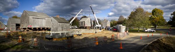 East Hampton Town Hall construction. ZAK POWERS