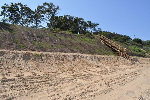 An erosion control installation.  Elizabeth Laytin