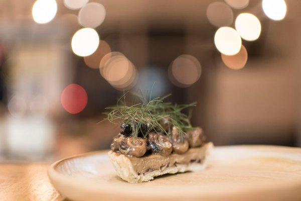 A escargot tart by Peconic Escargot. KATELYN KNAPP