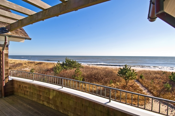 Sweeping ocean views from the veranda of a Southampton estate are a real draw for prospective tenants.