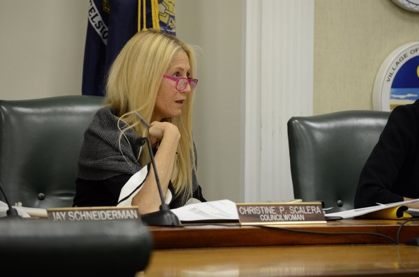 Southampton Town Board member Christine Scalera said she supported the ban on plastic straws and polystyrene products. GREG WEHNER