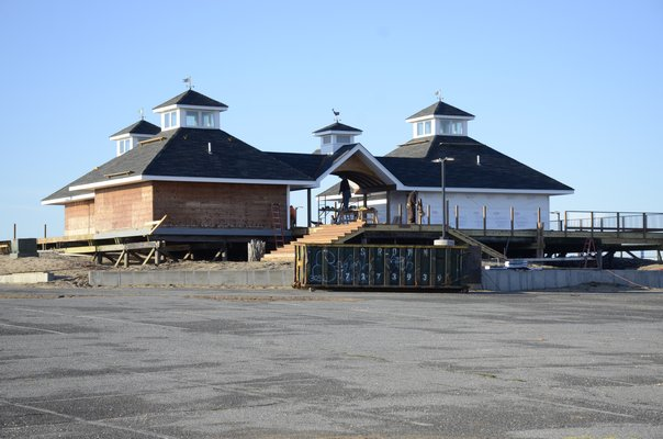 The Ponquogue Beach facility is in the process of getting a facelift. GREG WEHNER