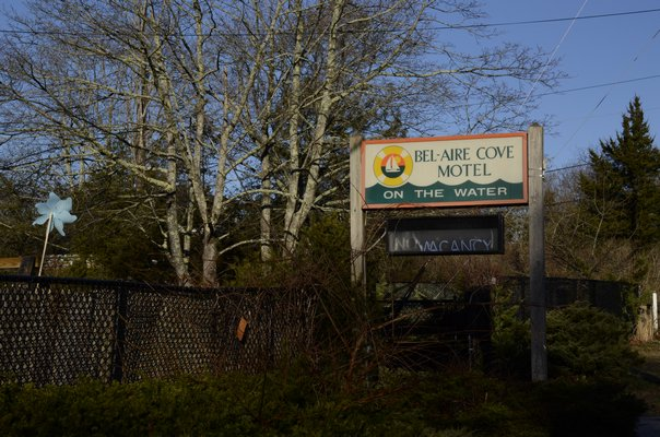 Southampton Town Board members approved the purchase of the Bel-Aire Motel in Hampton Bays. GREG WEHNER