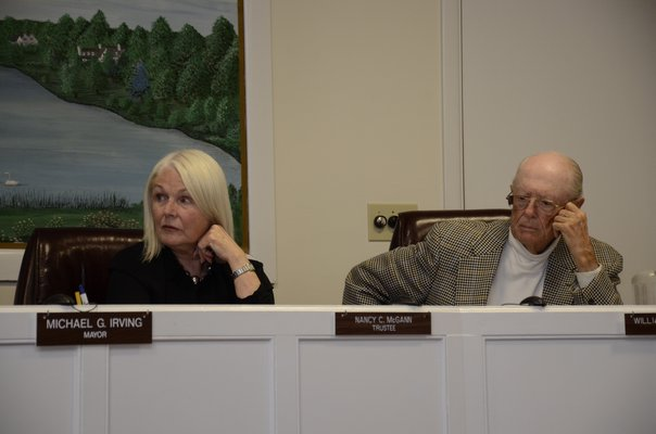 Southampton Village Trustees Nancy McGann and Bill Hattrick will not seek reelection to their seats in June. GREG WEHNER