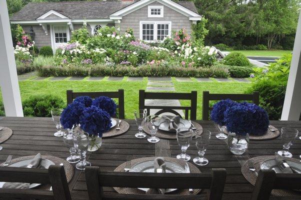 Inside Fond Fithian, the East Hampton garden of Tristana Waltz. MICHELLE TRAURING