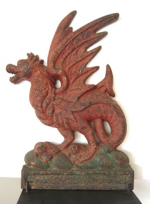 Andrew Spindler Antiques will bring signature pieces like this large 19th century painted cast iron Griffin. COURTESY EAST HAMPTON HISTORICAL SOCIETY
