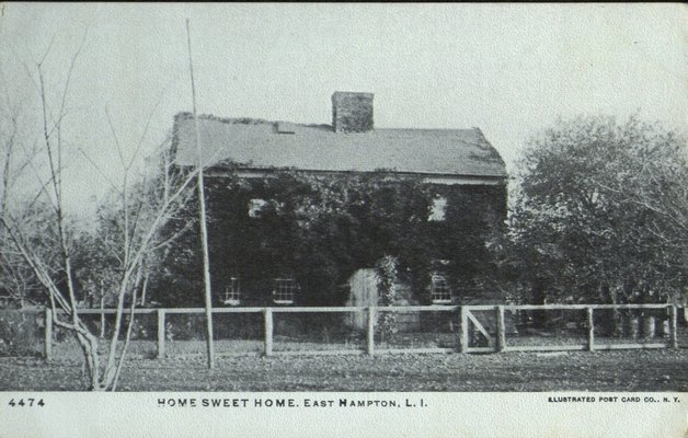 A postcard of Home Sweet Home. HARVEY GINSBERG POSTCARD COLLECTION