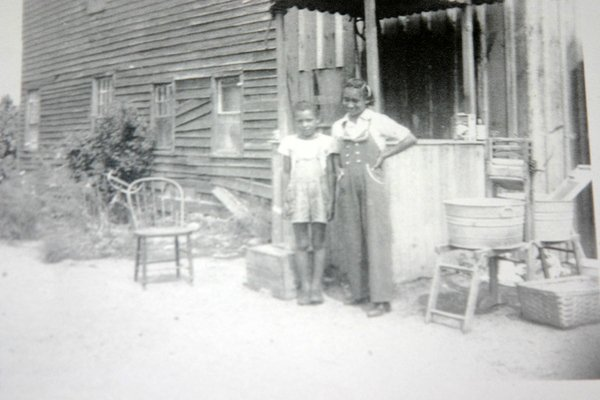 An African-American family's summer house in Sag Harbor, circa 1950. PRESS FILE