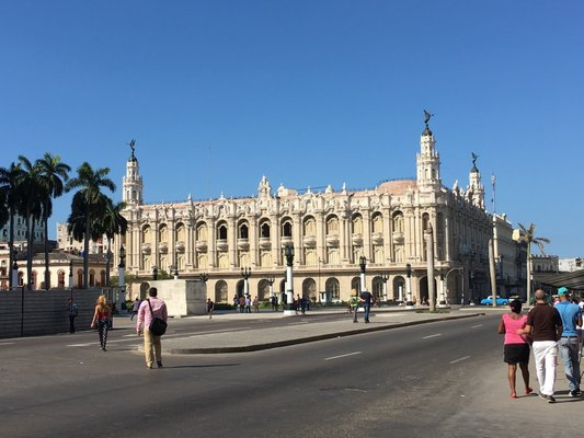 Havana's 1838 Gran Teatro which houses the ballet company and opera house, Baroque. ANNE SURCHIN