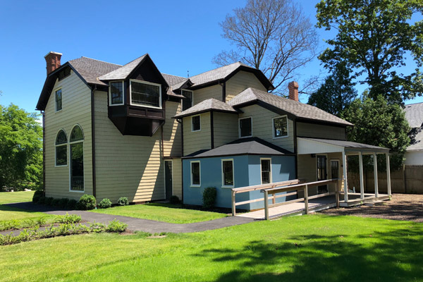 The rear of the Moran House after renovation.  ANNE SURCHIN