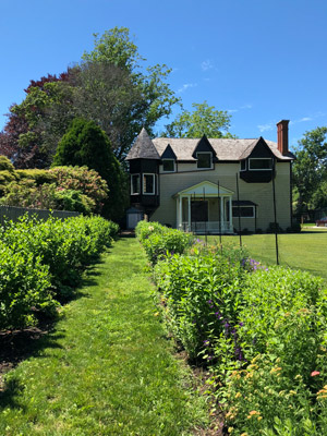 Original path to house was through the side yard garden path shown here.  ANNE SURCHIN