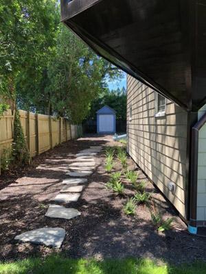 A side yard stone path at the Moran House. ANNE SURCHIN