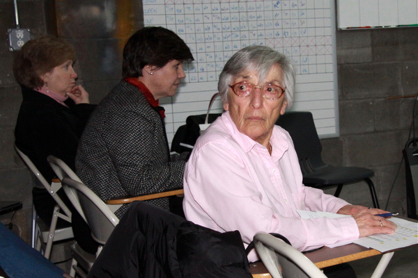 East Hampton resident Julia Kayser questioned the board about the need for an expensive bus depot.