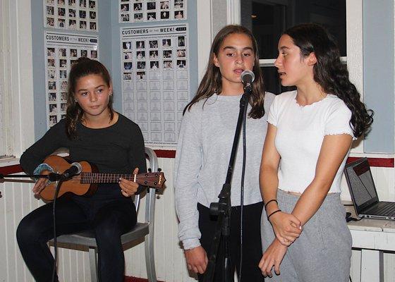 Tanie Sullivan, Sophia Beech and Eleana Merola. KYRIL BROMLEY