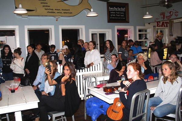 Southampton Youth Bureau Open Mic Night at Bay Burger. KYRIL BROMLEY