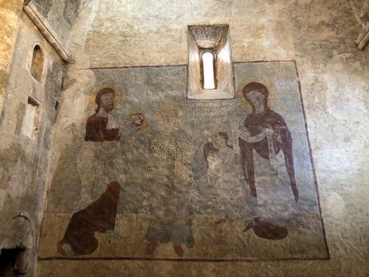 Restored fresco at Dadivank.  ANNE SURCHIN