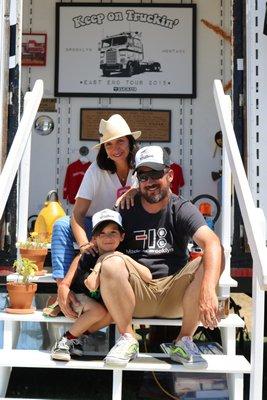 July 30 -- An 18-wheeler art truck parked it at the Hayground School in Bridgehampton.