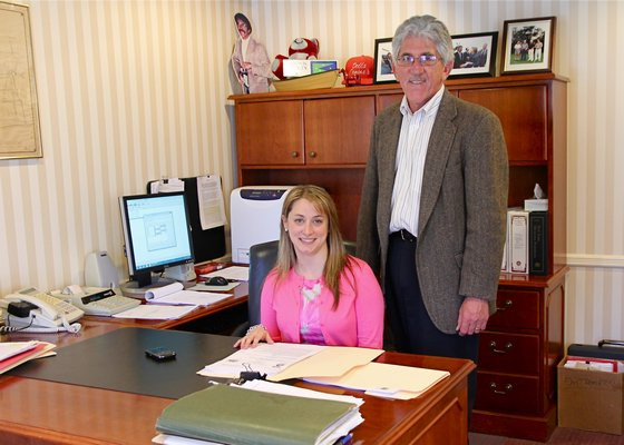 Rebecca Molinaro, who will replace Larry Cantwell as East Hampton Village administrator, started work on May 1. By KYRIL BROMLEY