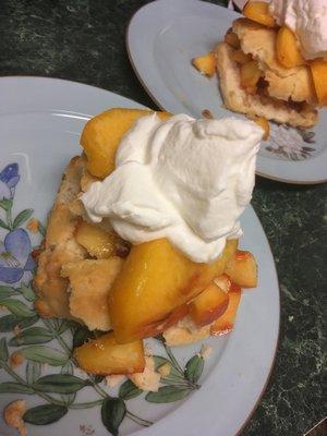 Peach shortcake dessert.  JANEEN SARLIN