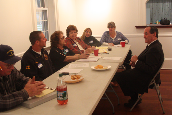 Zachary Cohen screened with the East Hampton Independence Party for supervisor last week. By Rohma Abbas